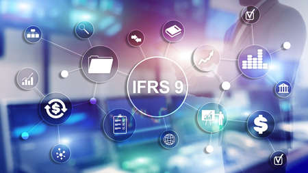 IFRS International Financial Reporting Standards Regulation instrument. Stok Fotoğraf - 124469500