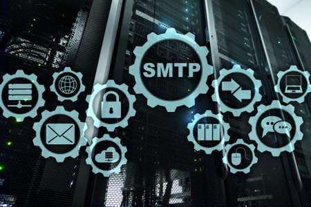 Smtp - server mail transfer protocol. TCP IP protocol sending and receiving e-mail. Simple Mail Transfer Protocol.