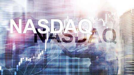 National Association of Securities Dealers Automated Quotation. NASDAQ. Stok Fotoğraf