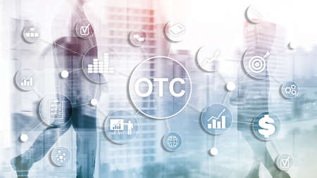 Over The Counter. OTC. Trading Stock Market concept. Stok Fotoğraf