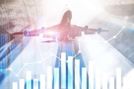 Financial growth graph. Sales increase, marketing strategy concept. Banco de Imagens - 124844255