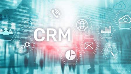 Business Customer CRM Management Analysis Service Concept. Relationship Management. Stok Fotoğraf