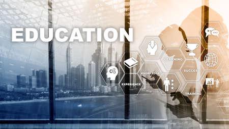 Education, Learning, Study Concept. Capacity development. Training personal development. Mixed media business. Banco de Imagens