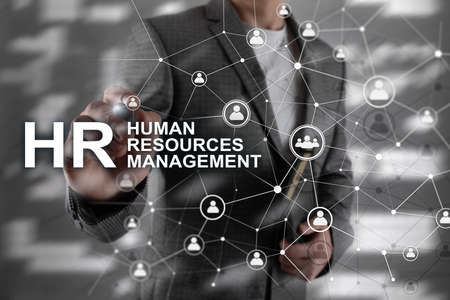 Human resource management, HR, Team Building and recruitment concept on blurred background Banco de Imagens - 124844343