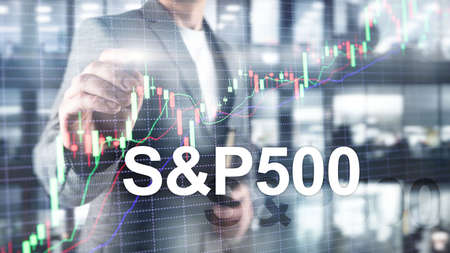 American stock market index S P 500 - SPX. Financial Trading Business concept Banco de Imagens - 124844309