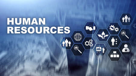 Human Resources HR management concept. Human resources pool, customer care and employees Banco de Imagens - 124844314