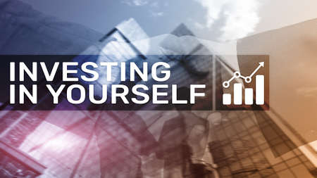Invest in yourself. Personal development and education concept on abstract blurred background Banco de Imagens - 124844386