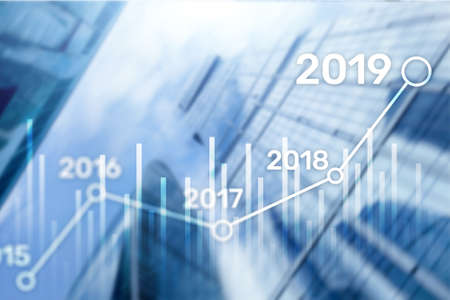 2019 Plan for Financial growth. Business and investment concept Reklamní fotografie