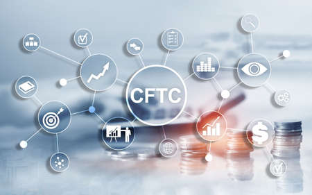 CFTC u.s. commodity futures trading commission business finance regulation concept. Stock Photo