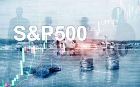 Indice del mercato azionario americano SP 500 - SPX. Concetto di affari di trading finanziario