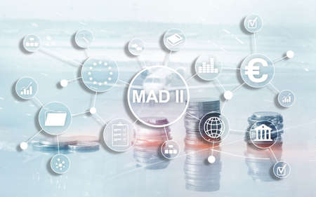Market Abuse Directive and Abuse Regulation. MAD 2. Financial and economic concept 스톡 콘텐츠