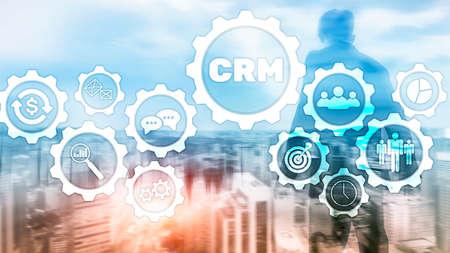 Business Customer CRM Management Analysis Service Concept. Relationship Management. Banco de Imagens