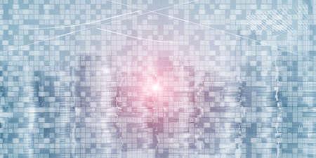 Digital Binary Code Business background. Matrix Abstract futuristic wallpaper.