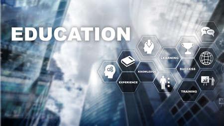 Education, Learning, Study Concept. apacity development. Training personal development. Mixed media business. Banco de Imagens