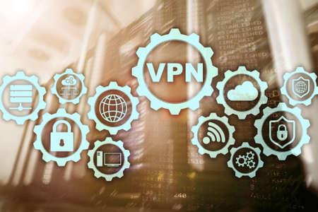 Secure VPN Connection. Virtual Private Network or Internet Security Concept Banco de Imagens