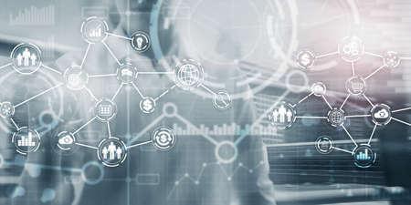 Futuristic in Industry business virtual diagram. Buying Communication concept Banco de Imagens