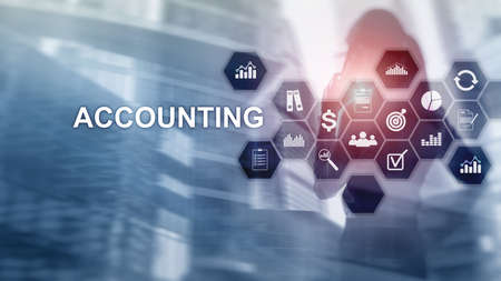 Accounting, Business and finance concept on virtual screen