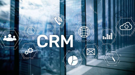 Business Customer CRM Management Analysis Service Concept. Relationship Management. Stockfoto