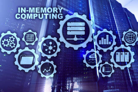 In-Memory Computing. Technology Calculations Concept. High-Performance Analytic Appliance Archivio Fotografico