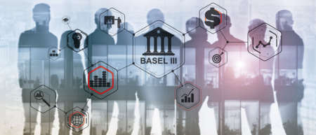 International regulatory framework for banks. Basel 3. Banking supervision concept.