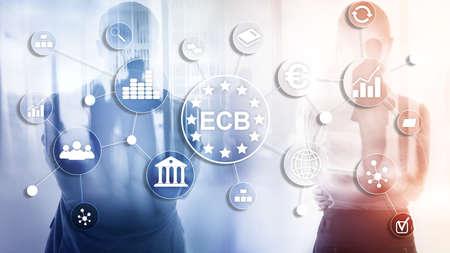 ECB European central bank Business finance concept. Reklamní fotografie