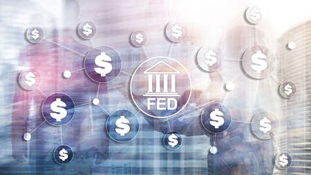 FED federal reserve system usa banking financial system business concept. 스톡 콘텐츠