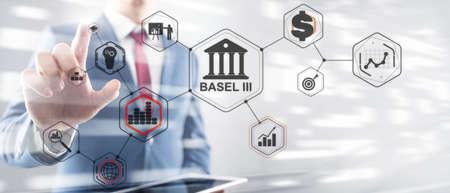 Banking supervision concept. International regulatory framework for banks. Basel 3.