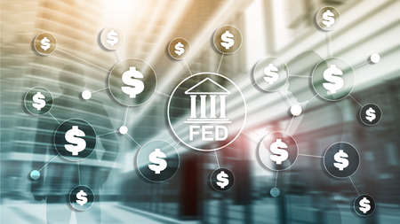 FED federal reserve system usa banking financial system business concept
