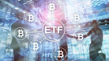 Bitcoin ETF cryptocurrency trading and investment concept