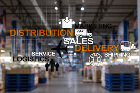 Logistics and Delivery concept. Shipping business industry
