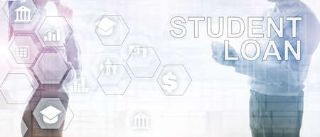 Education costs concept. Financial student background Фото со стока