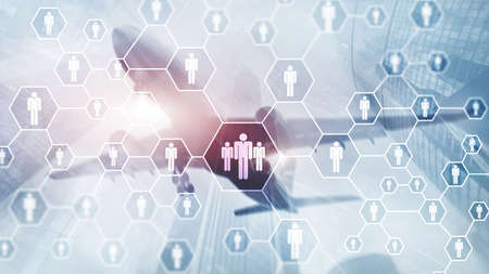 HR, Human Resources, Recruitment, Organisation structure and social network concept