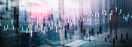 Financial Stock Market Graph. Website Economic Banner Stok Fotoğraf