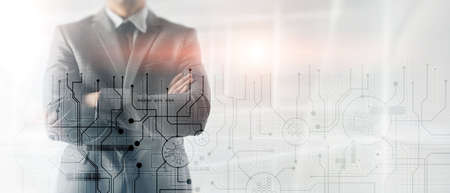Business abstract background automation technology concept