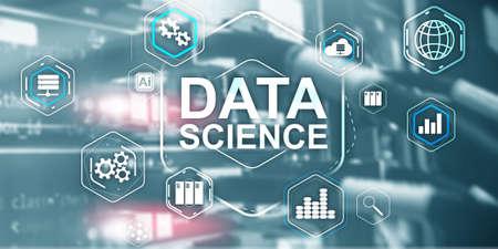 Big Data science analysis information technology concept. Server room background Stockfoto - 133200107