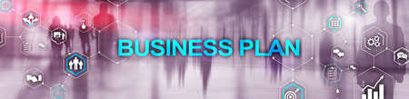 Horizontal Panoramic banner New Business Plan. Analysis and strategy concept Stockfoto - 133636941