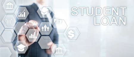 Education costs concept. Financial student background. Business Technology