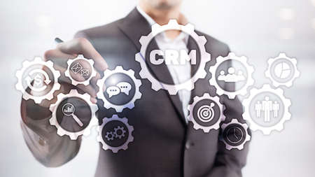 Relationship Management. Business Customer CRM Management Analysis Service Concept. Stockfoto