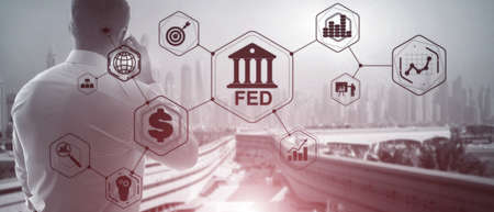 Federal Reserve System. FED. Financial Business Background.