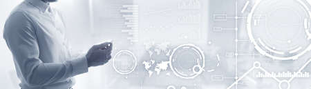 Website banner, Investment dashboard. Diagram Graph Stock Trading transparent business background