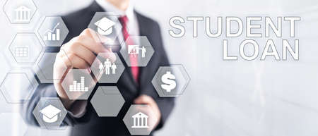 Education costs concept. Financial student background. Stockfoto