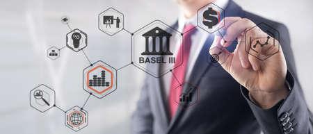 International regulatory framework for banks. Basel 3. Banking supervision concept