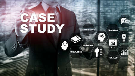 Case Study. Business, internet and tehcnology concept.