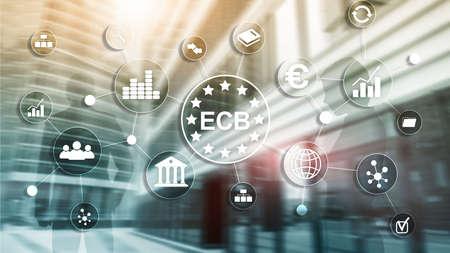 ECB European central bank Business finance concept. 版權商用圖片