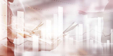 Business team traders investment planning and analyzing graph stock market trading with stock chart data.