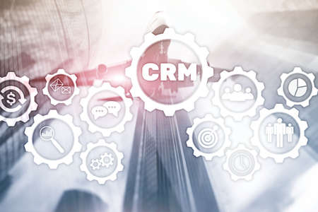 Business Customer CRM Management Analysis Service Concept. Relationship Management. 版權商用圖片