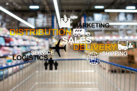 Logistics and Delivery concept. Shipping business industry. 版權商用圖片