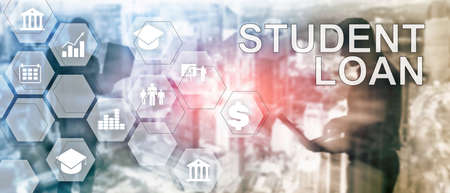 Education costs concept. Financial student background. 版權商用圖片