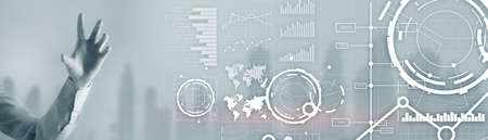 Website banner, Investment dashboard. Diagram Graph Stock Trading transparent business background.