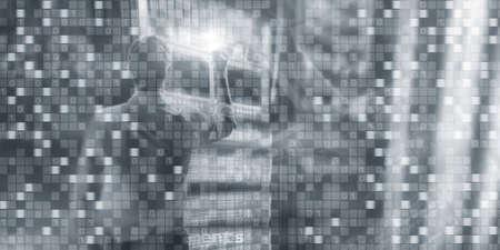 Digital background matrix information technology and internet concept.